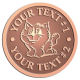 Ace Recognition Copper Coin, Lapel, Plaque - with your text and logo - Sports, mascots, cats, felines, high school, college, university