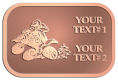Ace Recognition Copper Crest, Lapel - with your text and logo - all terrain vehicles, atv, atvs, off road, off-road, 4-wheeler, atv, bike,drive, fast, four, machine, motocross, off-road, power, powerful, quad, race, red, ride, road, sky, sport, tires, tool, traction, trail, transport, transportation, wheel