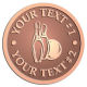 Ace Recognition Copper Coin, Lapel, Plaque - with your text and logo - bowling, bowling pins, bowling balls, bowling-ball, games,  kingpin, lane, leisure, pins, sport
