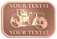 Ace Recognition Copper Crest, Lapel, Plaque - with your text and logo - asphalt paving machine, paver, roller, machinery, equipment, heavy, steam rollers, steamrollers, drum compactors