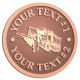 Ace Recognition Copper Coin, Lapel, Plaque - with your text and logo - snow plows, plows, snow removal, road equipment, heavy equipment