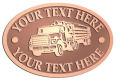 Ace Recognition Copper Crest, Lapel, Plaque - with your text and logo - logging equipment, logging truck, trucking, cargo, industry, logging, truck, lumber
