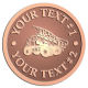 Ace Recognition Copper Coin, Lapel, Plaque - with your text and logo - dump trucks, standard dump trucks, trucks, construction vehicles, dumper, tip trucks, tipper lorry, tipper trucks, tippers, tipper lorries, transportation