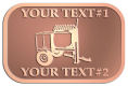 Ace Recognition Copper Crest, Lapel, Plaque - with your text and logo - cement mixers, concrete mixers, masonry mixers, concrete, mortar