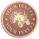 Ace Recognition Copper Coin, Lapel, Plaque - with your text and logo - tractors, farm equipment, farm machinery, farm machines, field implements, farm implements