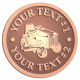 Ace Recognition Copper Coin, Lapel, Plaque - with your text and logo - lawn tractors, riding mowers, garden tractors, lawn mowers