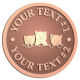Ace Recognition Copper Coin, Lapel, Plaque - with your text and logo - cats, kittens, felines, pets