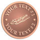 Ace Recognition Copper Coin, Lapel, Plaque - with your text and logo - locking pliers, tools, hand tools, industrial tools, pliers