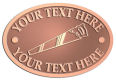 Ace Recognition Copper Crest, Lapel, Plaque - with your text and logo - hand saws, tools, hand tools, panel saws, cross cut saws, box saws, short cut saws