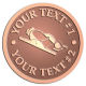 Ace Recognition Copper Coin, Lapel, Plaque - with your text and logo - hand tools, tools, chisel planes, smooth planes, woodworking, wood working