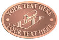 Ace Recognition Copper Crest, Lapel, Plaque - with your text and logo - hand tools, tools, plastering planes, lathes, stucco, plaster