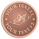 Ace Recognition Copper Coin, Lapel, Plaque - with your text and logo - hand tools, tools, plastering planes, lathes, stucco, plaster