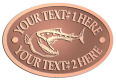 Ace Recognition Copper Crest, Lapel, Plaque - with your text and logo - Tattoos, fish