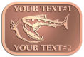 Ace Recognition Copper Crest, Lapel - with your text and logo - Tattoos, fish