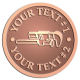 Ace Recognition Copper Coin, Lapel, Plaque - with your text and logo - Pipe wrenches, wrenches, wrench, tools, plumbers, plumbing