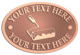 Ace Recognition Copper Crest, Lapel, Plaque - with your text and logo - painting, painters, interior designs, trades, contractors, paint rollers, paint