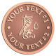 Ace Recognition Copper Coin, Lapel, Plaque - with your text and logo - pipe faucets, wrenches, plumbers, plumbing, faucets, pipes, wrench, wrenches