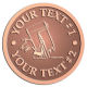 Ace Recognition Copper Coin, Lapel, Plaque - with your text and logo - painting tools, interior designs, painting, paint rollers, paint brush, paint brushes, paint contractors, painting contractors, painting professionals