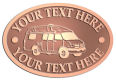 Ace Recognition Copper Crest, Lapel, Plaque - with your text and logo - RV, RVs, Recreational Vehicles, campers, camping, motors, motor-homes, motorhomes, recreation, recreational, retire, retirement, tours, trailers, transportation, travel, travelers, trips, trucks, vacations, vans, vehicles, voyages, wheels