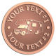 Ace Recognition Copper Coin, Lapel, Plaque - with your text and logo - RV, RVs, Recreational Vehicles, campers, camping, motors, motor-homes, motorhomes, recreation, recreational, retire, retirement, tours, trailers, transportation, travel, travelers, trips, trucks, vacations, vans, vehicles, voyages, wheels