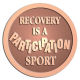 Ace Recognition Copper Buckle, Coin, KeyTag, Lapel, Medal, Pendant, Plaque - with your text and logo - recovery, recovery celebration, recovery milestones, motivational