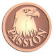 Ace Recognition Copper Buckle, Coin, KeyTag, Lapel, Medal, Pendant, Plaque - with your text and logo - eagles, bird of prey, patriotic, inspirational, strength, symbol, democracy, United States, USA, bald eagle