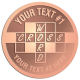 Ace Recognition Copper Coin, Lapel, Plaque - with your text and logo - crossword puzzles, recreation, challenge, brainstorming, word puzzles, ability, activity, brainteasers, clues, newspapers, vocabulary, quiz, spelling, competition, contemplation, mental