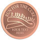 Ace Recognition Copper Coin, Lapel, Plaque - with your text and logo - attitude, awareness, breast, cancer, celebrate, celebration, challenge, charity, courageous, health, hope, marathon, medical, miracle, pink, race, recover, recovery, ribbon, run, support, survival, survive, survivor, symbol, symbolic, therapy