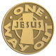 Ace Recognition Gold Coin, Lapel, Plaque - with your text and logo - Christian - Jesus - One way out - cross - love - faith - religion  religious, metal