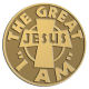 Ace Recognition Gold Coin, Lapel, Plaque - with your text and logo - Christian - Jesus - the great I am - cross - love - faith - religion  religious, metal