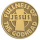 Ace Recognition Gold Coin, Lapel, Plaque - with your text and logo - Christian - Jesus - fullness of the Godhead - cross - love - faith - religion  religious, metal