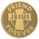 Ace Recognition Gold Coin, Lapel, Plaque - with your text and logo - Christian - Jesus - friend forever - cross - love - faith - religion  religious, metal
