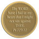 Ace Recognition Gold Coin, Lapel, Plaque - with your text and logo - Christian Designs - Thy word have I hid in mine heart, that I might not sin against thee.  Psalms 119:11  religious, metal
