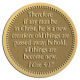 Ace Recognition Gold Coin, Lapel, Plaque, Buckle - with your text and logo - Christian Designs - Therefore if any man be in Christ, he is a new creature: old things are passed away; behold, all things are become new.  2 Corinthians 5:17  religious