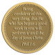 Ace Recognition Gold Coin, Lapel, Plaque - with your text and logo - Christian Designs - Being confident of this very thing, that he which hath begun a good work in you will perform it until the day of Jesus Christ.  Philippians 1:6  religious