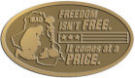 Ace Recognition Gold Crest, Lapel, Plaque - with your text and logo - Military - Iraq - Fallen Soldier Memorial - American Flag - Freedom isn