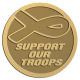 Ace Recognition Gold Coin, Lapel, Plaque - with your text and logo - Military - Support our troops - ribbon, metal, navy
