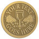 Ace Recognition Gold Coin, Lapel, Plaque - with your text and logo - Winery, sommelier, wine glasses, grapes, alcohol, beverages, celebrations, cellars, classical, corks, drinks, food, fruit, goblets, grapes, grapevines, restaurant, romantic, tavern, vintage, vine, wine tasting, wine-testers, wine testers