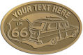 Ace Recognition Gold Crest, Lapel, Plaque - with your text and logo - Car designs - US route 66 - vintage cars - classic cars - corvette - sports car - your text, route 66, route sixty six, route sixty-six, historic highway, historic road, mother road, transportation