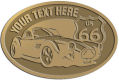 Ace Recognition Gold Crest, Lapel, Plaque - with your text and logo - Car designs - US route 66 - vintage cars - classic cars - convertible - sports car - your text, route 66, route sixty six, route sixty-six, historic highway, historic road, mother road