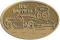 Ace Recognition Gold Crest, Lapel, Plaque - with your text and logo - Car designs - US route 66 - vintage cars - classic cars - corvette - your text, route 66, route sixty six, route sixty-six, historic highway, historic road, mother road, transportation