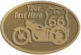 Ace Recognition Gold Crest, Lapel, Plaque - with your text and logo - Motorcycle Designs - US 66 - route 66 -   chopper, motorcycle - your text, motorcycles, motor bikes, racing, motor, motorsports, motor-sports, transportation, metal