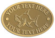 Ace Recognition Gold Crest, Lapel, Plaque - with your text and logo - Sports, mascots, sports, fish, sea creatures, sharks, teams, high school, college, university