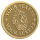 Ace Recognition Gold Coin, Lapel, Plaque - with your text and logo - Aliens, ufos, robots
