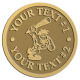 Ace Recognition Gold Coin, Lapel, Plaque - with your text and logo - Cavemen, caveman, prehistoric, primal