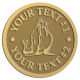 Ace Recognition Gold Coin, Lapel, Plaque - with your text and logo - Sports, mascots, sports, walrus, sea creatures, teams, high school, college, university