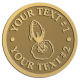 Ace Recognition Gold Coin, Lapel, Plaque - with your text and logo - Aliens, rocket ships, rockets