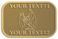 Ace Recognition Gold Crest, Lapel - with your text and logo - Sports, mascots, bats, high school, college, university
