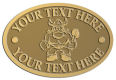 Ace Recognition Gold Crest, Lapel, Plaque - with your text and logo - Sports, mascots, vikings, norsemen, high school, college, university