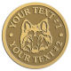 Ace Recognition Gold Coin, Lapel, Plaque - with your text and logo - Sports, mascots, sports, animals, dogs, canines, teams, high school, college, university